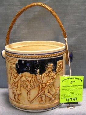 Vintage Biscuit Bucket Japanese