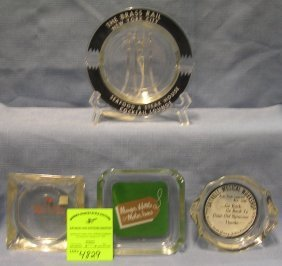 Group Of Four Vintage Advertising Ash Trays