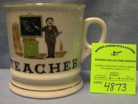 Vintage Shaving Mug Titled Teacher