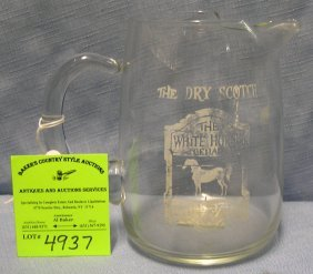 White Horse Dry Scotch Whiskey Advertising Water