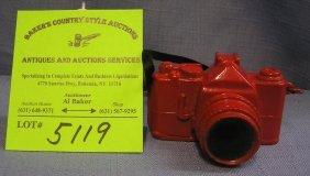 Vintage Miniature Cast Metal Camera