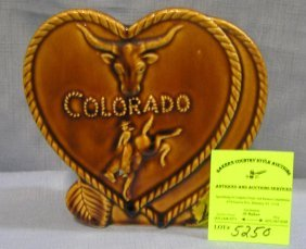 Western Themed Souvenir Wall Pocket From Colorado