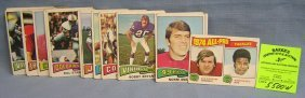 Collection Of Vintage Topps Football Cards