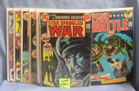 Group Of Early War And Military Themed Comic Books