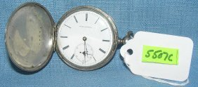 Antique Silver Pocket Watch By Jules Huguenin