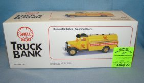 Vintage Shell Gasoline And Oil Co. Delivery Truck Bank