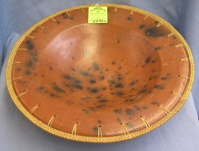 Antique Arts And Crafts Earthenware Pottery Bowl