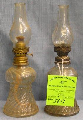 Pair Of Antique Oil Lamps