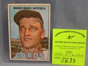 Vintage Roger Maris Baseball Card