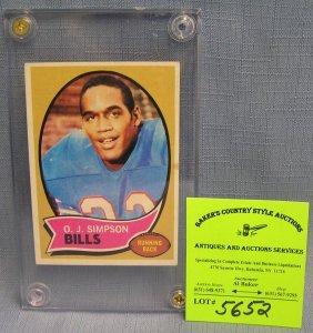 Vintage Oj Simpson Rookie All Star Football Card