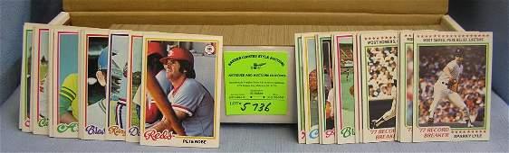 Near complete Topps baseball card set