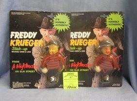 Pair Of Vintage Freddy Krueger Dolls