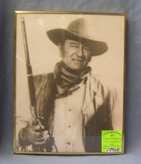 Vintage John Wayne Framed Photo
