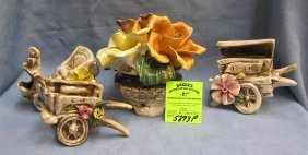 Group Of 4 Vintage Capodimonte Pieces