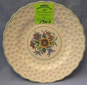 Nice Vintage Floral Decorated Royal Copeland Plate