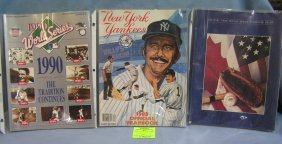 Group Of Vintage Ny Yankees And World Series Programs