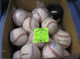 Box Full Of Brand New And Like New Baseballs