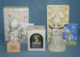 Group Of 3 Prescious Moments Figurines