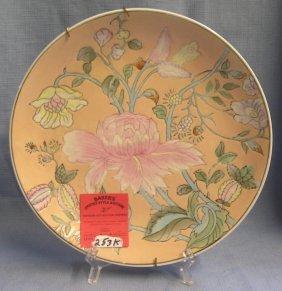 Vintage Porcelain Floral Decorated Collector Plate