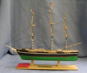 Flying Cloud Hand Painted Wooden Clipper Ship
