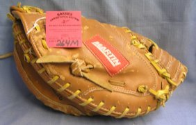 Vintage Martin Leather Baseball Catcher's Mitt