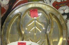 Large Antique Silver Plated Serving Platter