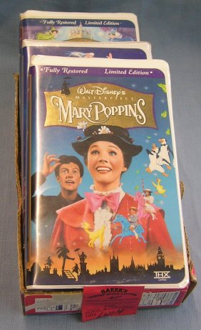 Group Of 3 Vintage Disney Movie Videos
