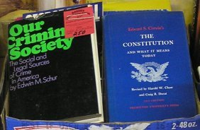 Box Of Vintage Books Including Political And More