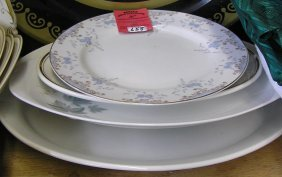 Group Of Five Vintage Serving Plates And Platters