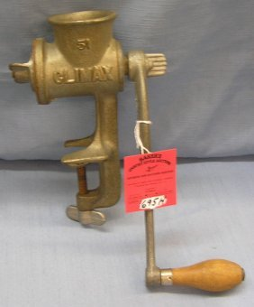 Antique Meat Grinder By Climax