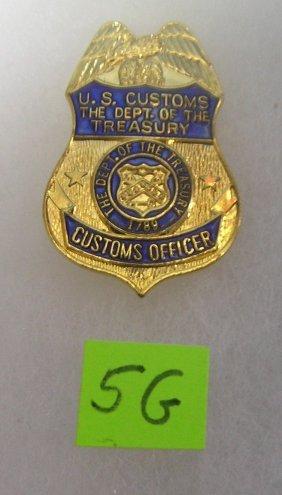 Vintage Us Custom's Officer's Wallet Badge
