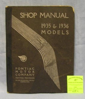 Early Pontiac Motor Co. Shop Manual