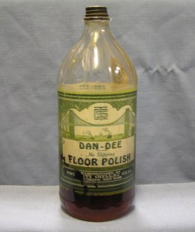 Antique Dan-dee Floor Polish Advertising Bottle