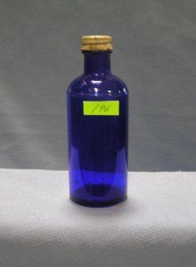 Vintage Cobalt Blue Glass Medicine Bottle