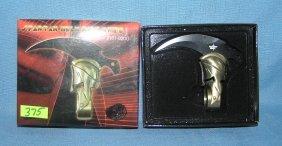 Spartan Helmet Ring Knife With Original Box