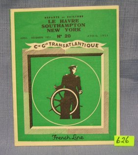 French Line Transatlantic Travel Booklet