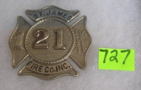 Vintage Saint James Fire Department Badge