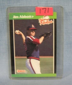 Vintage Jim Abbott Rookie Baseball Card