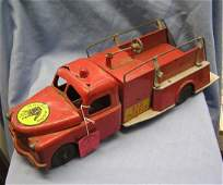 Early Structo fire department pumper truck