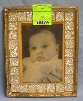 Vintage Baby Photo In Decorative Frame