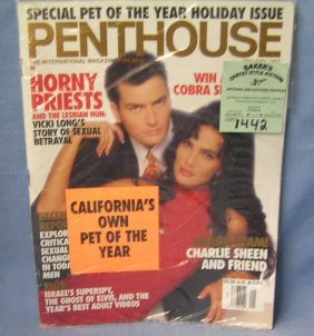 Penthouse Magazine Charlie Sheen Issue