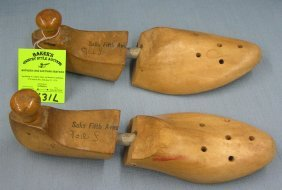 Pair Of Antique Wooden Shoe Stretchers