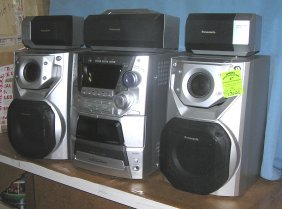 6 Piece Panasonic Cd Stereo System