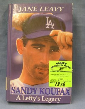 Vintage Sandy Koufax Hardcover Book