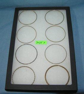 Group Of Brass Bracelets