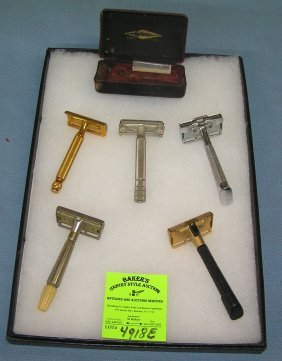 Collection Of Single Edge And Double Edge Shaving