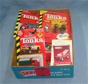 Box of vintage Tonka Toys