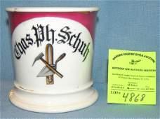 Antique shaving mug Chas. Ph. Schuh Mason