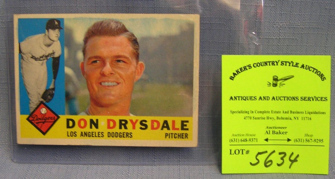 Vintage Don Drysdale baseball card