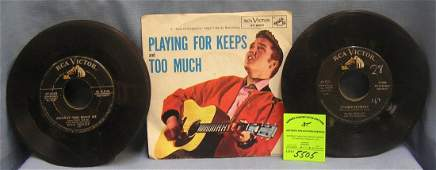 Collection of great early Elvis Presley 45 rpm records